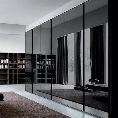 Экстравагантный чёрный шкаф в минималистичном стиле